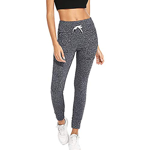(Women High Waist Out Pocket Yoga Running Capri, Beyonds Rope Tummy Control Workout Running 4 Way Stretch Yoga Leggings Tights, Weight Loss Slimming Pants Hot Thermo Sweat Leggings)