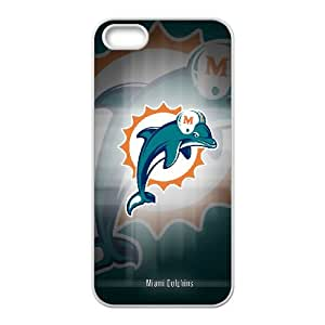Miami Dolphins iPhone 5 5s Cell Phone Case White persent zhm004_8511362