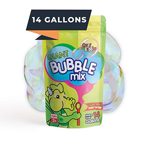 CrazyBubbles Giant Bubbles for Kids - 14 Gallons of Bubble Solution, Vegan Bubbles for Toddlers, Bubble Solution Refill for Bubble Machine, Birthday Party Favors and Easter Bubbles, Made in Canada