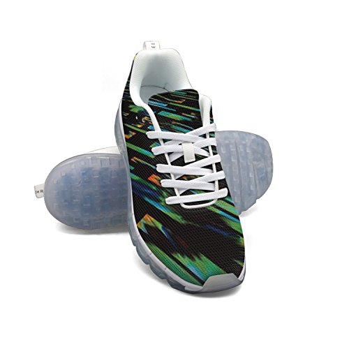 cheap sale newest cheap big sale FAAERD Abstract Green Design Men's Fashion Lightweight Mesh Air Cushion Sneakers Basketball Sneakers clearance release dates newest cheap price vtpHB