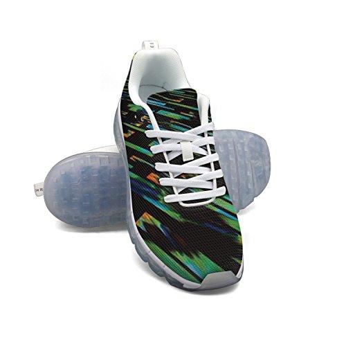 FAAERD Abstract Green Design Men's Fashion Lightweight Mesh Air Cushion Sneakers Basketball Sneakers clearance release dates footlocker cheap price 0IbG1v17j