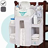 home depot closet organizer hiccapop Nursery Organizer and Baby Diaper Caddy | Hanging Diaper Organization Storage for Baby Essentials | Hang on Crib, Changing Table or Wall