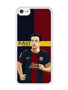 Hot Sale iPhone 5C Case ,Unique And Beautiful Designed iPhone 5C Case With Xavi Hernandez White Phone Case