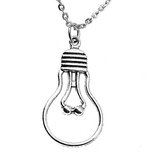 o Thread Incandescent Bulb Metal Chain Male Necklace Fashion ()