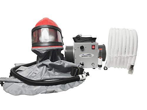 - Breathecool II Supplied Air Respirator System w/sandblast helmet/cape