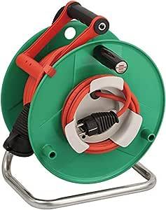 Brennenstuhl 1183530 Garant Super-Solid - Carrete alargador de cable para jardín (IP 44, 50 m, N05V3V3-F3G1,5)