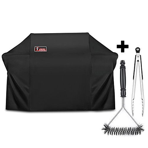 Kingkong 7109 Premium Grill Cover for Weber Summit 600-Series Gas Grills Including Grill Brush and Tongs by King Kong