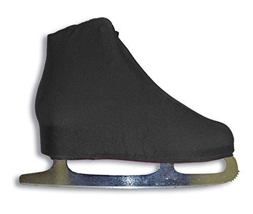 A&R Sports Junior Lycra Ice Skate Boot Covers, Black (Boot Skate Lycra Ice Cover)