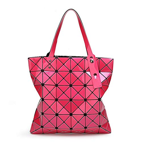 Hot Bag Shopping Japanese Geometric Lattice Color Pink Diamond 15 Women's Folding xHzqwA8ppW