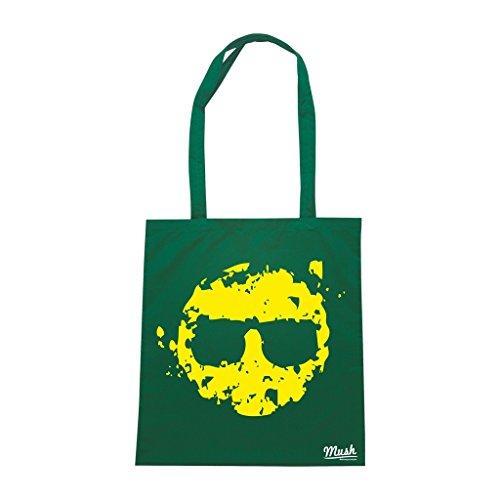Borsa Smile Grunge - Verde Bottiglia - Music by Mush Dress Your Style