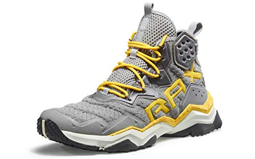 RAX Men's Wolf Outdoor Breathable Hiking Boot Camping Backpacking Shoes Lightweight Sneaker Grey