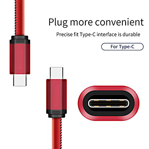 UUYUM Thermal Sensor Type C to USB 2.0 Cable, Heat Induction Color Changing Holster, Super Durable Charge for LG G5/V20, Nexus 5X/6P, Samsung Galaxy S8, Nintendo Switch and other Devices (Red) by UUYUM (Image #5)