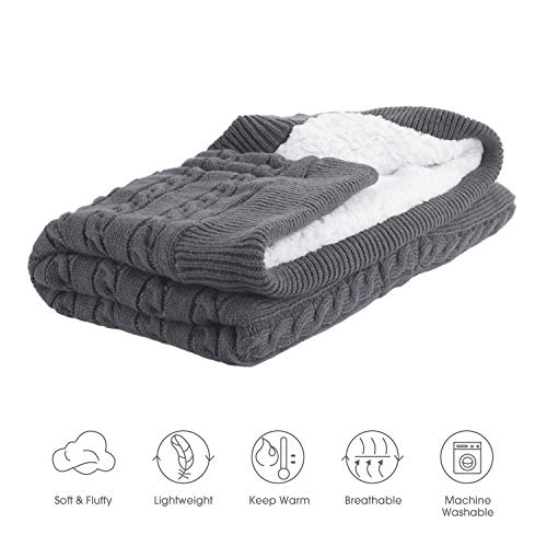 Newborn Infant Nursery Swaddle Blanket – Warm Cozy and Soft Knitted Fleece Blanket for Baby Boy and Girl – Cute and…