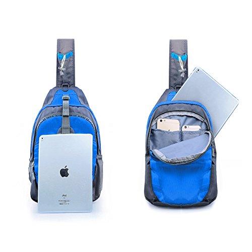 Satchel Outdoor Sling Fanny Blue Sack Large Unbalance Shoulder Chest Backpack Gym Bike Bag 8wXrFqz8