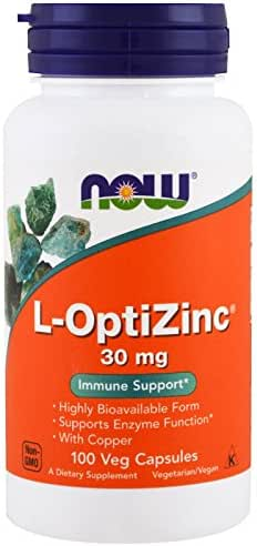 Now Foods: L-Optizinc Immune Support 30 mg, 100 Caps (2 pack)