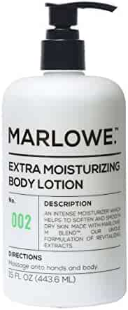 MARLOWE. 002 Extra Moisturizing Body Lotion 15 oz | Daily Lotion for Dry Skin for Men and Women | Light Fresh Scent | Made with Natural Ingredients | Vegan & Cruelty-Free