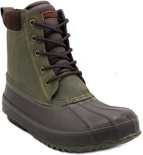 London Fog Mens Ashford Waterproof and Insulated Duck Boot Green 12 M US