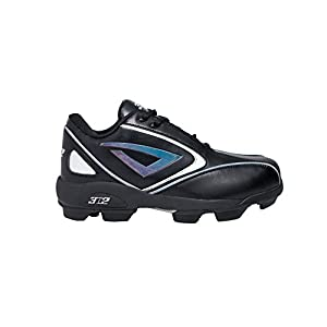 3N2 Rookie Elite Youth Molded Cleat, Black, Size 1