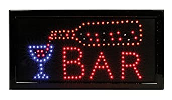 Lighted bar sign led neon bar man cave sign business for Bar decor amazon