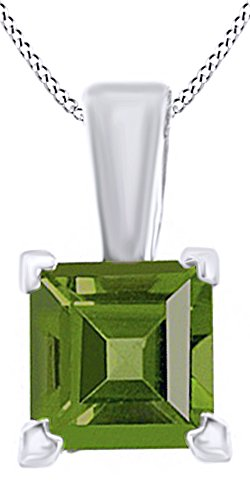 0.5 Ct Peridot Pendant - 8