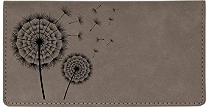 Make A Wish Laser Engraved Leatherette Checkbook Cover