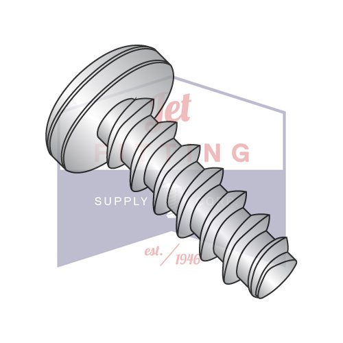 8-16X5/8 Plastite Style Thread Forming Screws | Phillips | Pan Head | 410 Stainless Steel (QUANTITY: 4000) by Jet Fitting & Supply Corp