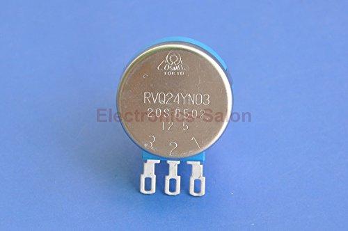 Electronics-Salon RVQ24YN03 20S B502 Potentiometer, 5K OHM Long Life Panel Pot