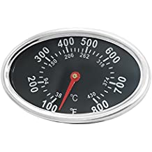 DozyAnt Stainless Steel Lid Thermometer Gas Grill Temperature gauge heat indicator 22551 Replacement for Grill Master 720-0697 4 Burner, Aussie, Brinkman and Others, Adjustable for Accuration