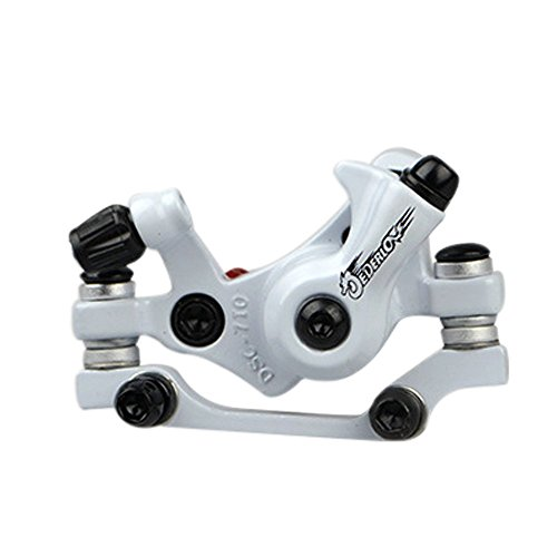 - SENQI Bike Disc Brake Mechanical Cycling Bicycle Front Caliper (White)