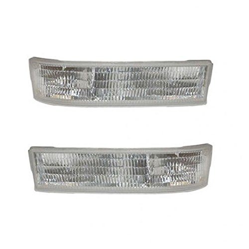Corner Side Marker Parking Light Lamp Pair Set for 95-05 Chevy Astro GMC Safari ()