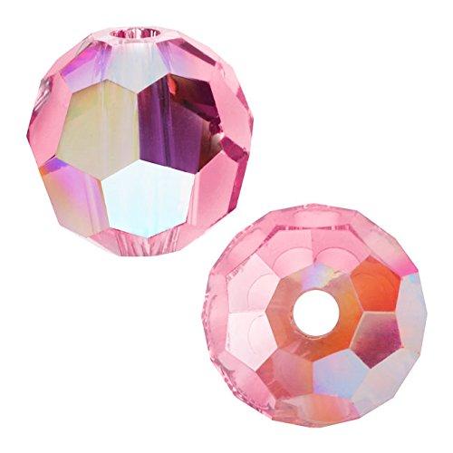 SWAROVSKI ELEMENTS Crystal #5000 Round 6mm Lt. Rose AB Beads (10