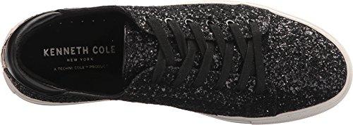 Kenneth Cole New York Donna Kam Tecnica-cole Stringata In Pelle Moda Sneaker Glitter Nero