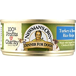 Newman'S Own Turkey & Brown Rice Formula For Dogs, 5.5-Ounce Cans (Pack Of 24)