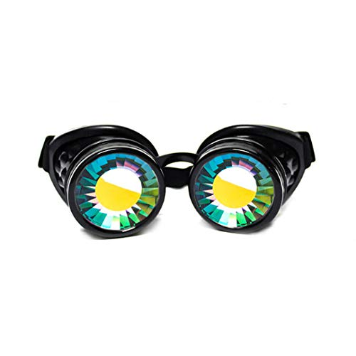 Glow Worm Costumes - GloFX Wormhole Kaleidoscope Goggles - Festival