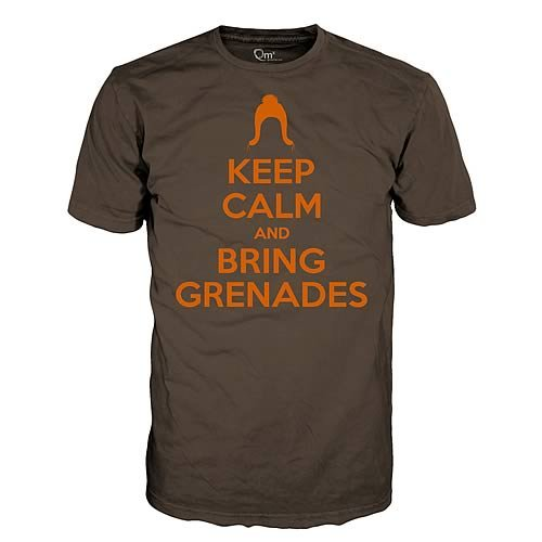 Firefly Serenity Keep Calm & Bring Grenades Brown T-Shirt