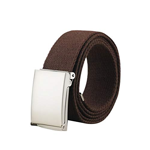 Maikun Men's Tactical Belt Metal Buclkle Solid Color Canvas Belt Father's Day Gifts by Maikun (Image #1)