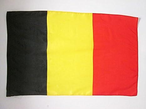AZ FLAG Bandera de BÉLGICA 90x60cm para un Palo - Bandera Belga 60 x 90 cm Poliester Ligero: Amazon.es: Jardín
