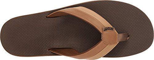 Scott Hawaii Men's Size 11 Palaole Tan Sophisticated Sandals | Two-Toned Durable Straps | Custom Grooved Outsole Prevents Slipping ()