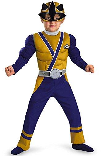 GOLD RANGER SAMURAI MUSCLE 1-2 (Power Rangers Gold Ranger Costume)