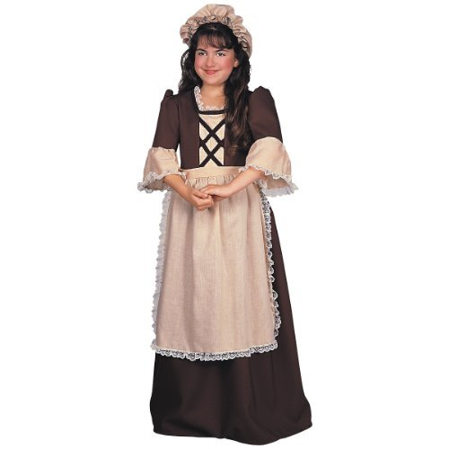 Colonial Costumes Girl (Rubie's Child's Colonial Times Girl Costume, Medium)