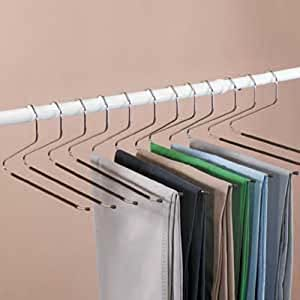 12 piece set of Jobar Slacks Hangers Open Ended pants Easy Slide Organizers