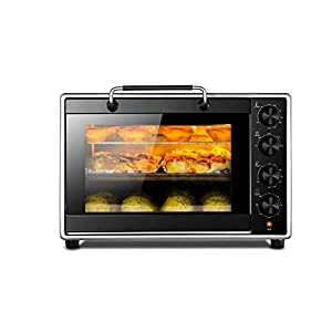 HEMFV Digital Countertop Convection Oven Stainless Steel Exterior with Baking Pan Broil Rack Four Baking Modes to Choose
