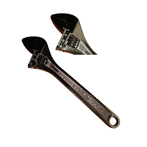 """Price comparison product image 10"""" Black Nickel Adjustable Wrench"""