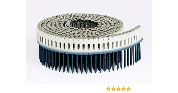 .875-Inch x .082-Inch 11200 Per Box Fasco SCMS7882FZEG Scrail Fastener Fine Thread 15-Degree Plastic Mini-Sheet Coil Electro-Galvanized Pozi Panhead