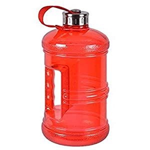 2.3 Liter BPA-Free Water Bottle with Stainless Steel Cap - Red