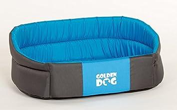 Perros cesta Prestige cama para perros Perros Cojín perros sofá Size L, XL, 3 colores (gris con azul, L): Amazon.es: Productos para mascotas