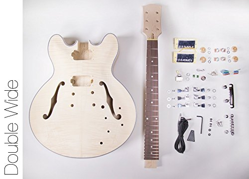 DIY Electric Guitar Kit ? 335 Style Build Your Own Guitar Kit ()
