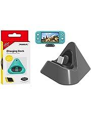 Base Dock Station Carregador Compatível Nintendo Switch E Switch Lite Cinza