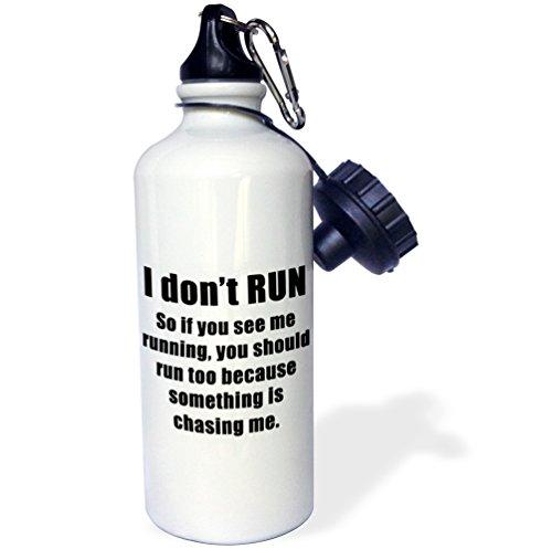3dRose Dont Run Black-Sports Water Bottle, 21oz (wb_218552_1), 21 oz, Multicolor]()