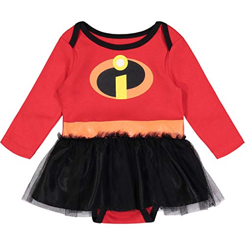Disney Pixar The Incredibles Newborn Baby Girls' Costume Bodysuit Dress, 0-3 -